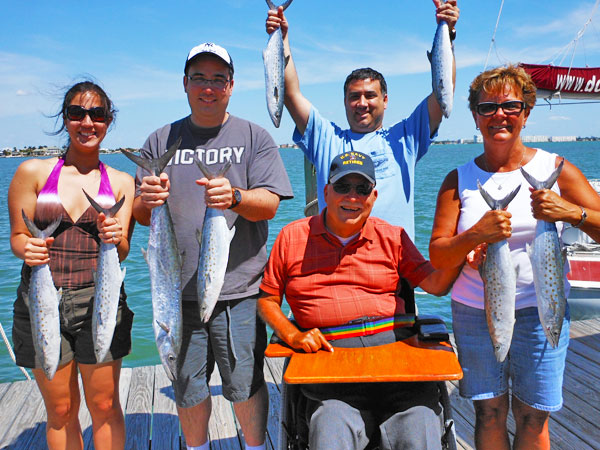 Jawbreaker Charters hosting an offshore family fishing trip in St. Petersburg, FL.